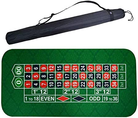 ラバースクエアグリーンルーレットブラックジャックポーカーテーブルマットポーカー賭博テーブルクロスボードショルダーバッグと布