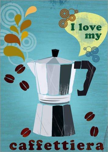 Acquisto Poster 30 x 40 cm: I Love My caffettiera di Elisandra Sevenstar – Stampa Artistica Professionale, Nuovo Poster Artistico Prezzi offerta