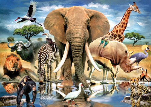 Smallest Jigsaw - TDC Games 234-Piece Jigsaw Puzzle, 4 by 6-Inch, World's Smallest, African Oasis
