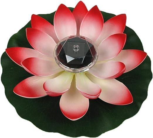 Solar Outdoor Floating Lotus Light Pool Garden Water Flower LED Lamp Lights  !