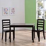 Delta Children Gateway Table and 2 Chairs Set (Dark Chocolate)