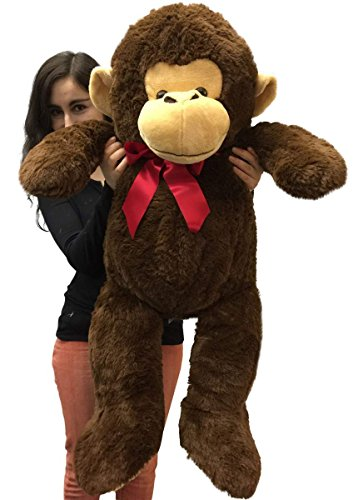 Big Stuffed Monkey 3 Feet Long Brown Color 36 Inches Large Plush Gorilla