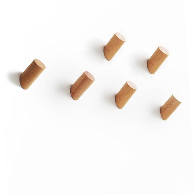 Amazon.com: ETECHMART - Ganchos de madera natural para ...