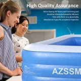 """AZSSMUK Inflatable Pool,120"""" X 72"""" X 22"""" Full-Sized"""