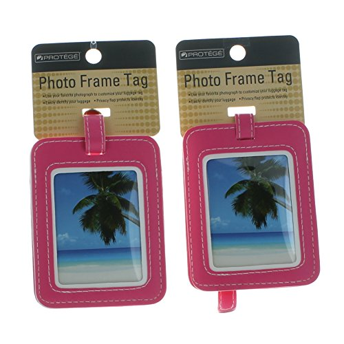 Set of 2 Protege Photo Frame Luggage Tags Suitcase ID - Tag Frame Luggage Picture