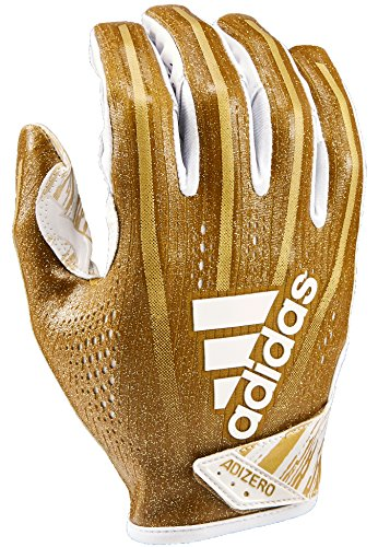 adidas AF1001 Adizero 7.0 Speed of Light Receiver's Gloves, Metallic Gold, - Gloves Football Adidas