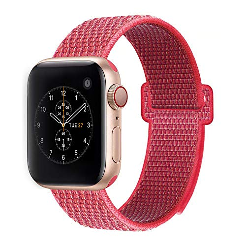 (BEA FASHION Sport Bands Compatible with Apple Watch Band 38mm Soft Breathable Woven Nylon Replacement Sport Loop Band for Apple Watch Series 3 Series 2 Series 1)