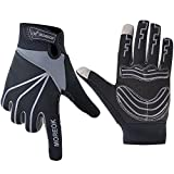 MATT SAGA Cycling Gloves Full Finger Bike Bicycle Gloves Touch Screen Windproof Mountain Bike Road Bike Gloves Gel Padded Riding Driving Winter Gloves for Men and Women Shock Absorbing Breathable