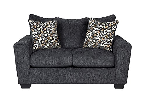 Benchcraft - Wixon Contemporary Upholstered Loveseat - Slate Gray