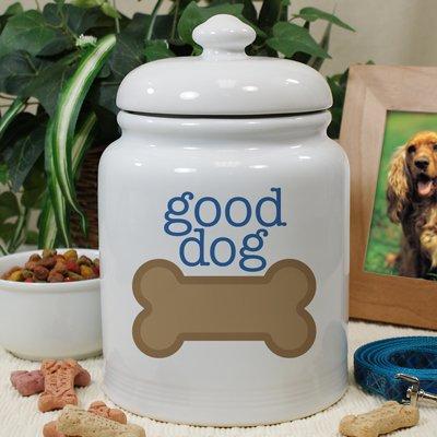 GiftsForYouNow Personalized Ceramic Good Dog Treat Jar, 10''