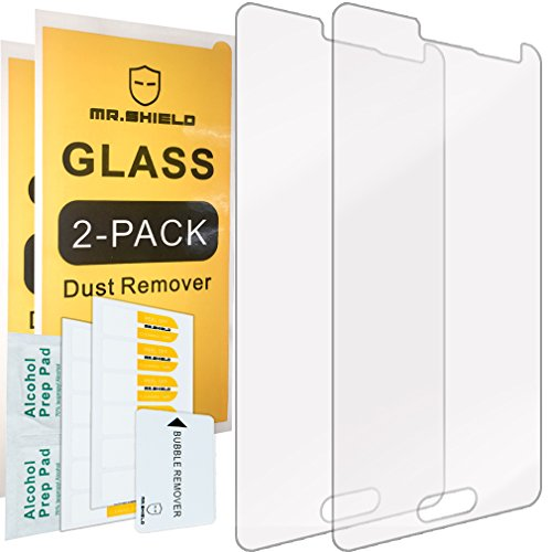 Cheap Screen Protectors [2-PACK]-Mr Shield For Samsung Galaxy Alpha [Tempered Glass] Screen Protector with Lifetime..