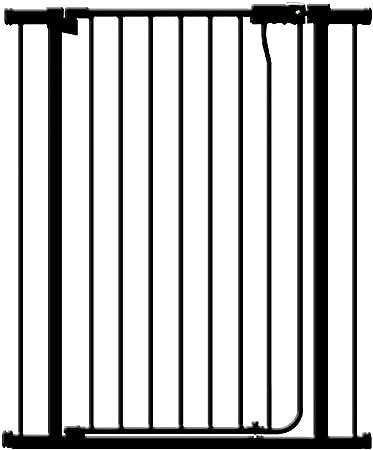 ZAQI Barrera Seguridad Puerta for bebé Extra Alta con Puerta, extensión Negra Puerta de Seguridad retráctil for Mascotas, for escaleras Interiores, 85-247 de Ancho Barandilla Resistente a los Golpes: Amazon.es: Hogar