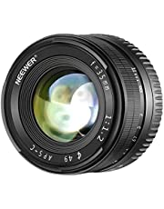 Neewer 35mm F1.2 Large Aperture Prime APS-C Manual Focus Aluminum Lens for Sony E Mount Mirrorless Cameras  A7III A9 NEX 3 3N 5 NEX 5T NEX 5R NEX 6 7 A5000 A5100 A6000 A6100 A6300 A6500