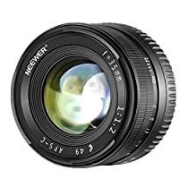 Neewer 35mm F1.2 Large Aperture Prime APS-C Aluminum Lens for Sony E Mount Mirrorless Cameras A6500 A6300 A6100 A6000 A5100 A5000 A9 NEX 3 NEX 3N NEX 5 NEX 5T NEX 5R NEX 6 7
