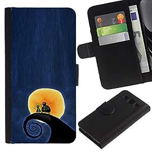 Planetar® Modelo colorido cuero carpeta tirón caso cubierta piel Holster Funda protección Para SAMSUNG Galaxy S3 III / i9300 / i747 ( Surf Surf Wave Luna Blue Night)