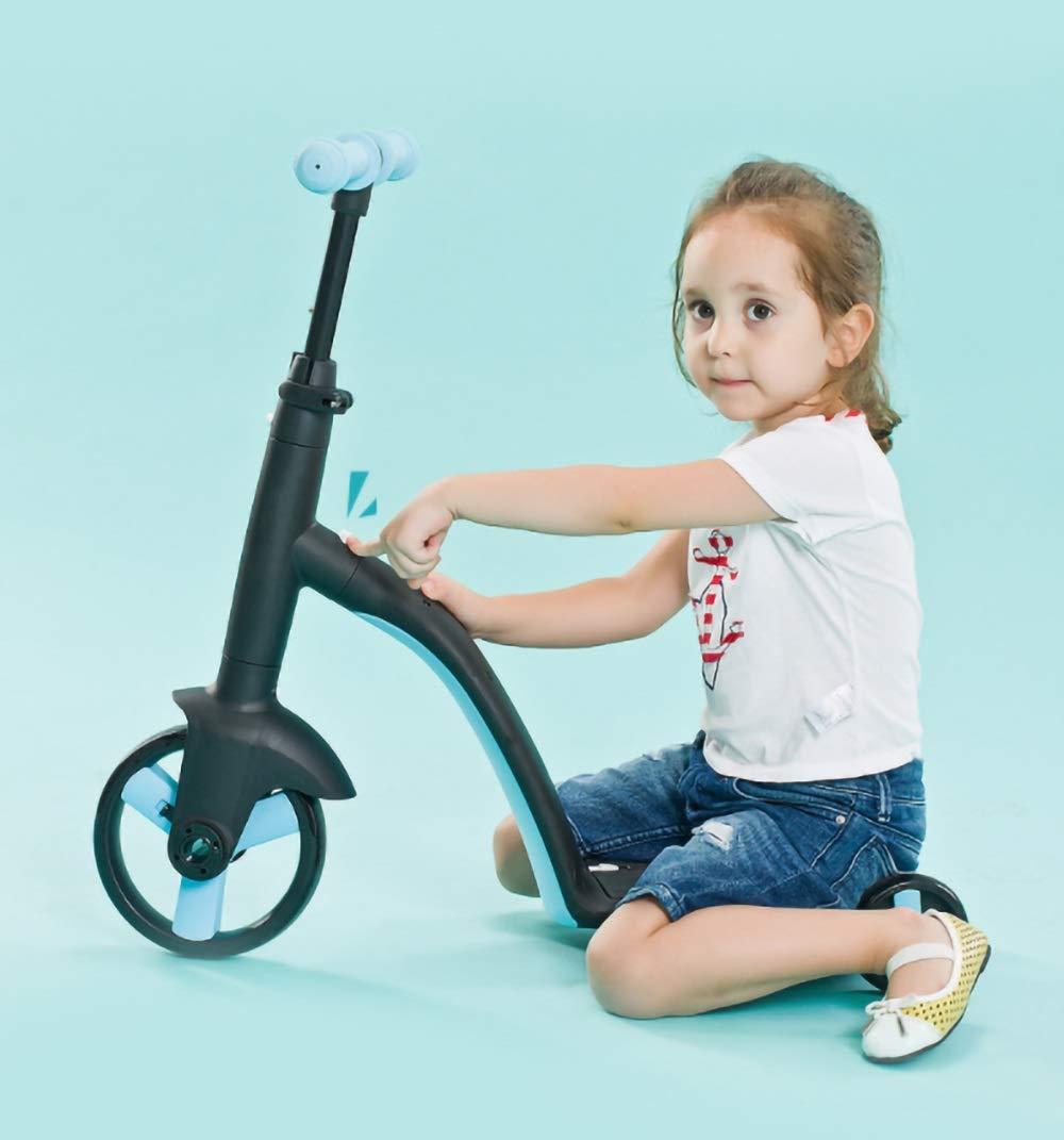 Runplayer 赤ちゃんのスリーインワンスクーター、三輪デザイン、子供用スクーターに最適 B07R142GB2 ( Color Color : Blue ) Runplayer B07R142GB2, 乙部町:ad111ce6 --- bernsieboy.com