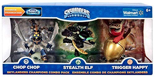 Skylanders Imaginators Champions Combo Pack (Chop Chop, Stealth Elf, and Trigger Happy) -