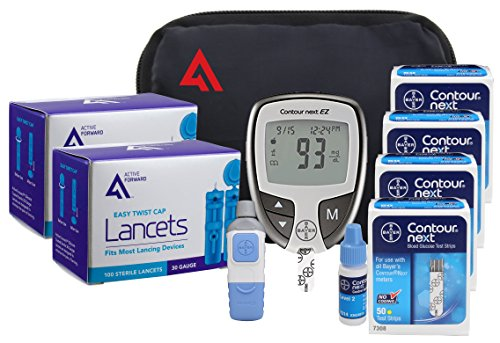 Active1st Bayer Contour NEXT Diabetes EZ Meter Testing Kit, 200 Test Strips,...
