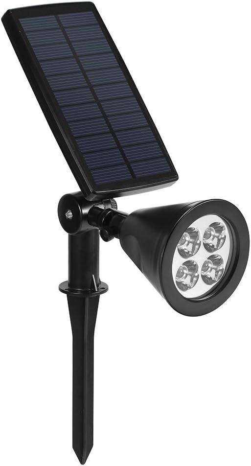 Lámparas Solares Impermeable 2W 200LM Foco LED Exterior Solar para Jardín, Patio,Césped y Camino (1P): Amazon.es: Iluminación