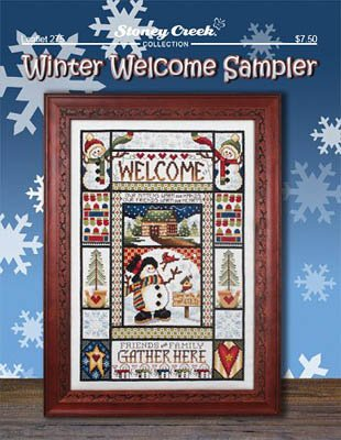 Winter Welcome Sampler Cross Stitch Chart and Free Embellishment