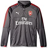 PUMA Men's Arsenal FC 1/4 Training Top With Sponsor, Dark Shadow, XX-Large