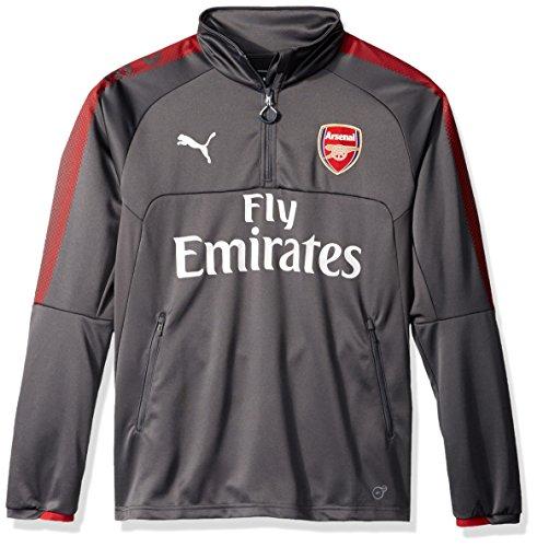 Puma Mens Arsenal Fc 1 4 Training Top With Sponsor  Dark Shadow  Large