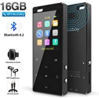 Musboy 16GB MP3 Player with Bluetooth & FM Radio/Voice Recorder (Black)