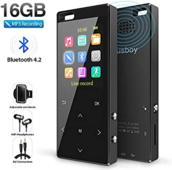 Musboy 16GB MP3 Player with Bluetooth & FM Radio/Voice Recorder