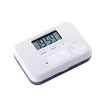 CHENG Seis cuadrículas envasado pequeña píldora Cuadro sincronización Reloj Despertador recordatorio Mini Pastillas portátiles Cajas Inteligente: Amazon.es: ...