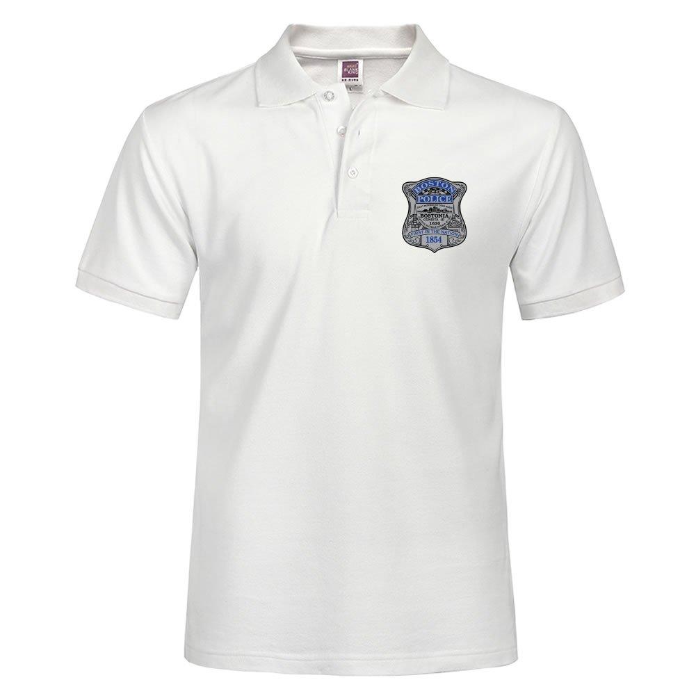 carostone Boston Policía insignia Custom Polo camiseta para hombre ...