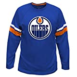 NHL Edmonton Oilers Long Sleeve Tee with Double Arm Stripes, X-Large Tall, Royal