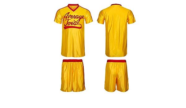 Dodgeball Joes Yellow Jersey /& Shorts Adult Men Average Gym Halloween Costume Set