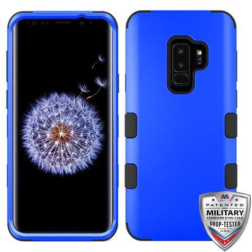 MyBat Cell Phone Case for Samsung Galaxy S9 Plus - Titanium Dark Blue/Black Solid