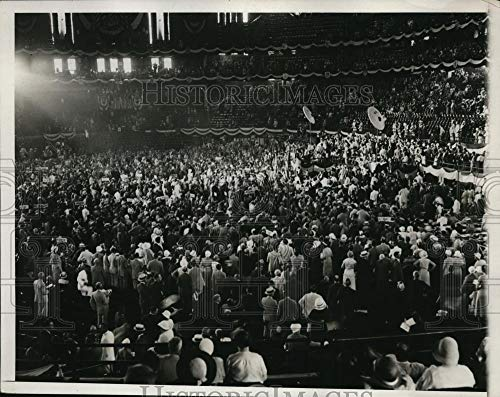 Historic Images - 1932 Vintage Press Photo Democratic National Convention in Chicago Stadium - nep00305