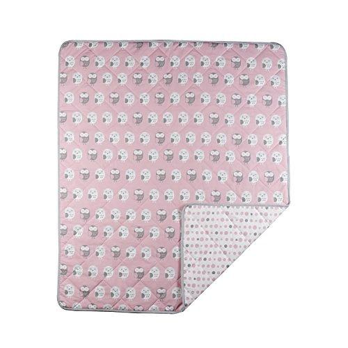 【激安】 Lolli Living Owl Owl Pink Quilted B077ZTQHRW Comforter Pink [並行輸入品] B077ZTQHRW, 貝塚市:24281411 --- a0267596.xsph.ru