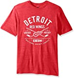 NHL Detroit Red Wings Men's Even Strength Tri-Blend Short Sleeve Tee, Medium, Red