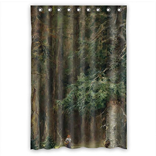 MaSoyy Polyester Bathroom Curtains Of Beautiful Scenery Landscape Painting For Kids Girl Girls Wife Gf Him. Healthy Width X Height / 48 X 72 Inches / W H 120 By 180 Cm(fabric)