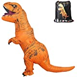 Inflatable T-Rex Costume Adult with Exclusive Drawstring Bag Double Zippers Dinosaur Halloween Costume