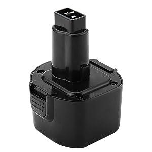 Shentec 9.6V 3000mAh Battery Compatible with Dewalt 9.6V DW9062 DW9061 DE9036 DE9061 DE9062 DW9614 DW050, Ni-MH