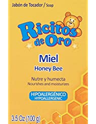 Miel Ricitos de Oro Hand Soap | Hypoallergenic Bar Soap for Baby, Honey Moisturizing Bath Soap; 3.5 Ounces