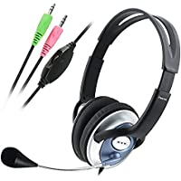 Insten PC Computer Headphone Headset Microphone For MSN Skype