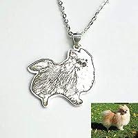Custom Pet,Personalized Necklace,Custom Portrait Charm,Pet Necklaces,Pet Memorial Jewelry,Dog Photo Necklace, Engraved Necklace, Silver Portrait Gift