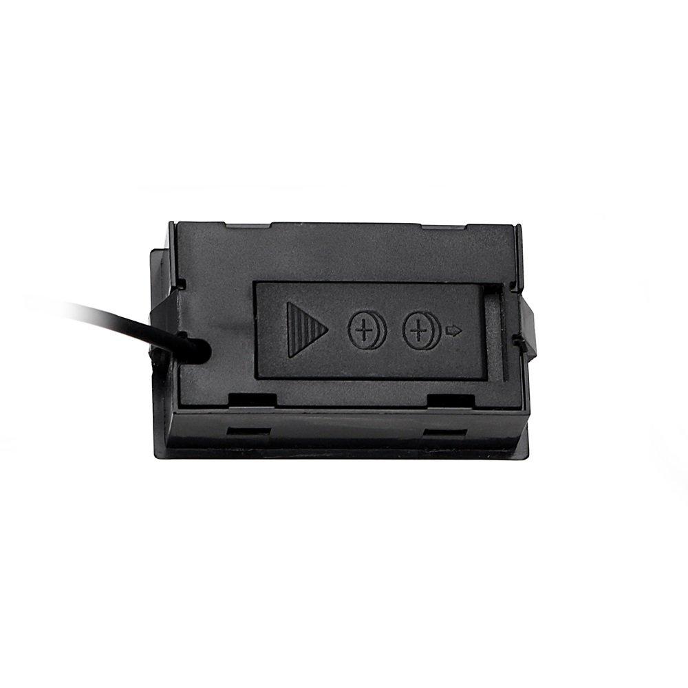 Pantalla Digital LCD NOPNOG Term/ómetro para Coche Color Negro