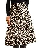 MANGO Women Leopard midi Skirt 31088818