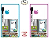 Set of 2 Board Dudes 5.5 x 10 Inches Magnetic Dry Erase Board, Includes 1 Marker and Magnet, Frame Color May Vary (60041)