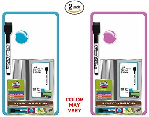 Set of 2 Board Dudes 5.5 x 10 Inches Magnetic Dry Erase Board, Includes 1 Marker and Magnet, Frame Color May Vary (60041) by The Board Dudes