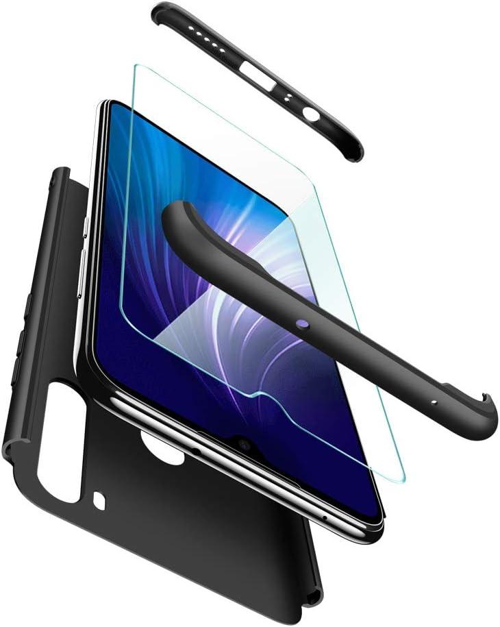 ivencase Funda Xiaomi Redmi Note 8 + Cristal Templado, para Xiaomi Redmi Note 8 Funda 3 in 1 Rígida PC Protective Anti-rasguños Case Cover Caso
