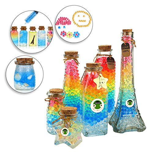 UWANTME Water Beads Pack (50000 beads) Rainbow Mix Jelly Water Growing Balls for Kids Tactile Sensory Toys, Vases, Plants, Wedding and Home Decoration