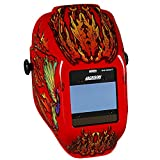 Jackson Safety Insight Variable Auto Darkening Welding Helmet (46109), HaloX , ADF, Flaming Butterfly Graphic