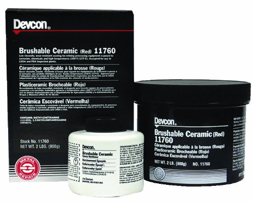 Devcon 11760 Red Brushable Ceramic Epoxy Compound, 2 lb. Bottle by Devcon
